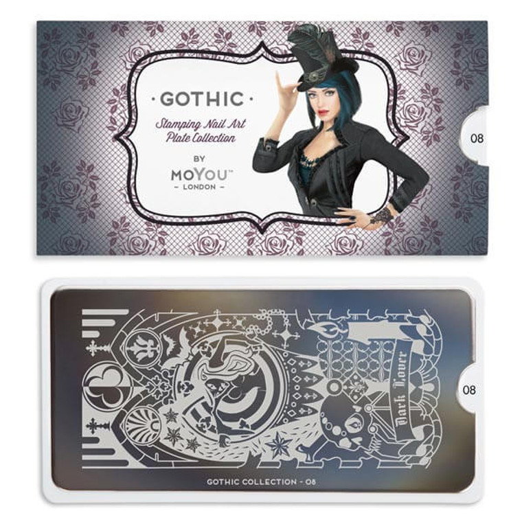 Gothic Nail Plate | 08
