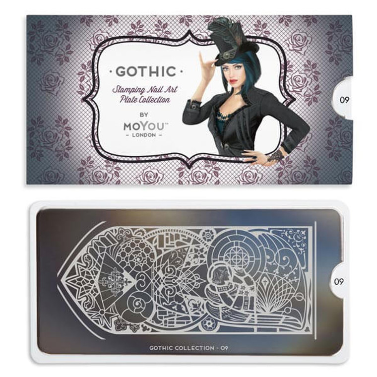 Gothic Nail Plate | 09