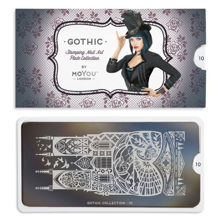 Gothic Nail Plate   10