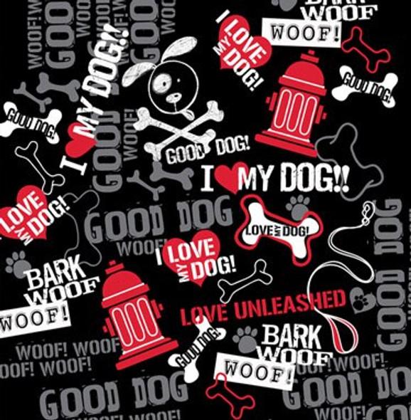 Bark, Woof, Woof Dog Bandana