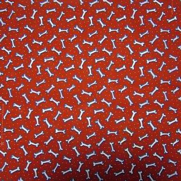 Red Bones Dog Bandana