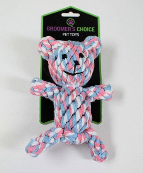 "Groomer's Choice Braided Rope Bear 6"""