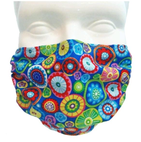 happy flowers mask