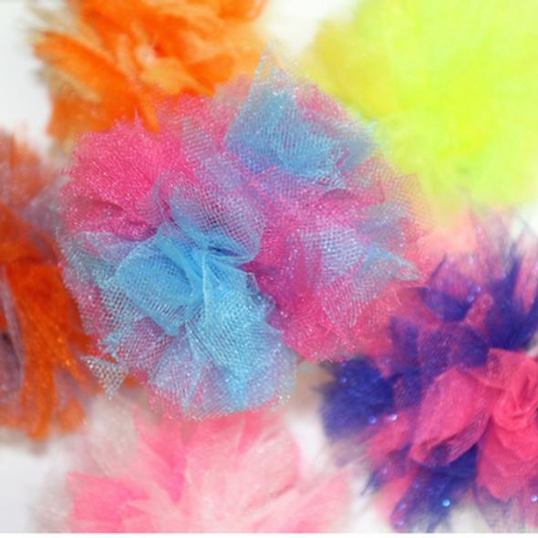 Pet Poms Assorted Colors, 12 Count