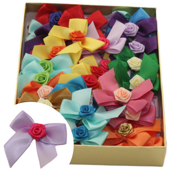 Rose Accent Bows, 50 Count