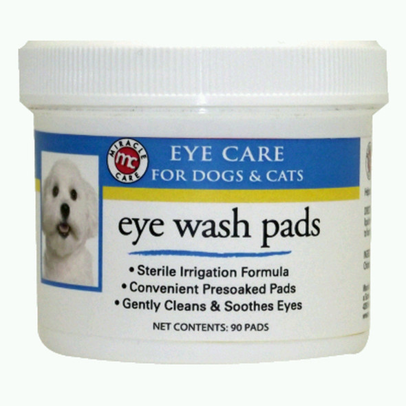 Miracle Care Sterile Eye Wash Pads 90 Count