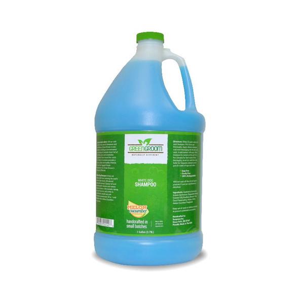 Green Groom White Dog Shampoo Gallon