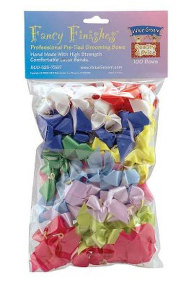 """Fancy Finishes Assorted 5/8"""" Bows - 100 Pack"""