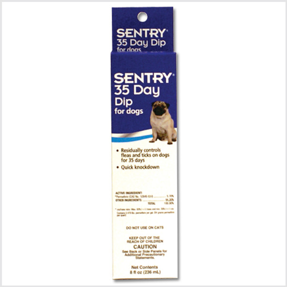 Sentry 35 Day Dip for Dogs 8oz