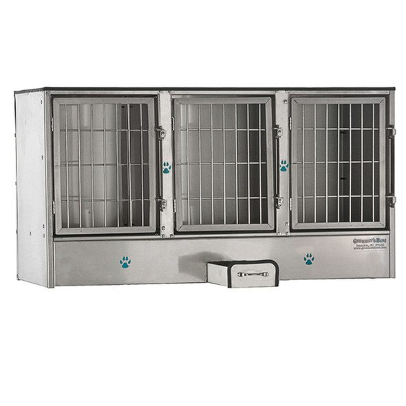 Groomer's Best Stainless Steel 3 Bank Cage
