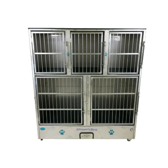 Groomer's Best Stainless Steel 5 Bank Cage
