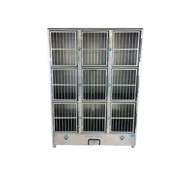 Groomer's Best Stainless Steel 9 Bank Cage