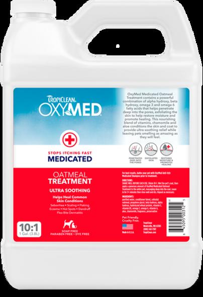 Tropiclean Oxy-Med Oatmeal Dog Treatment, Gallon