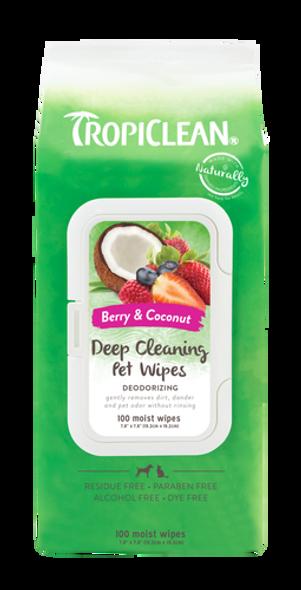 Tropiclean Deodorizing Deep Clean Pet Wipes 100 Count