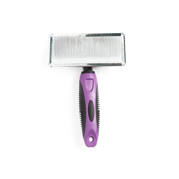 SureGrip Flat Slicker Brush for Dogs Medium