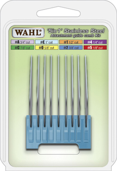 Wahl 5 in 1 Stainless Steel Attachment Comb #E