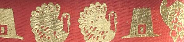 Gold Turkeys on Bittersweet Ribbon
