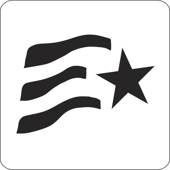 flag stencil