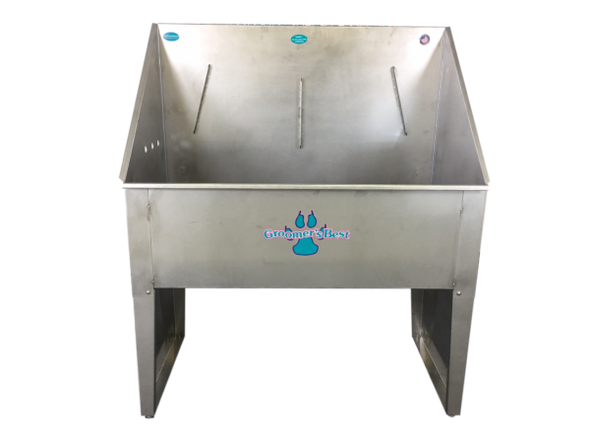 """Groomer's Best Standard Tub 24"""" x 48"""" Left Drain Front View"""