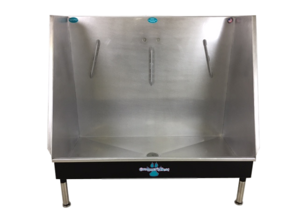 """Groomer's Best Walk-In Tub 24"""" x 48"""" Left Drain Front View"""