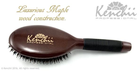 Kenchii Boar and Nylon Bristle Brush Large Back