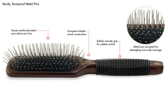 Kenchii Metal Pin Oblong Brush Large Information