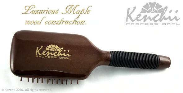 Kenchii Wooden Pin Paddle Brush Large Back
