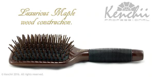 Kenchii Wooden Pin Paddle Brush Large