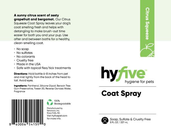 Scenthound-Hyfive Citrus Squeeze Coat Spray 8oz