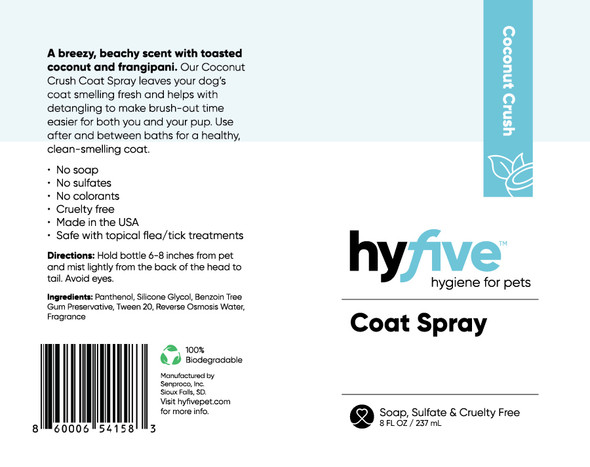 Scenthound-Hyfive Coconut Crush Coat Spray 8oz