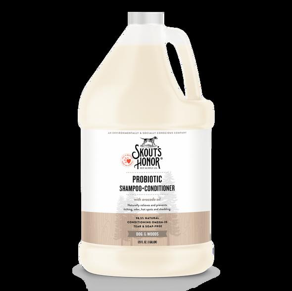 Skout's Honor Probiotic Shampoo & Conditioner Gallon Dog of the Woods  (Sandalwood Vanilla)
