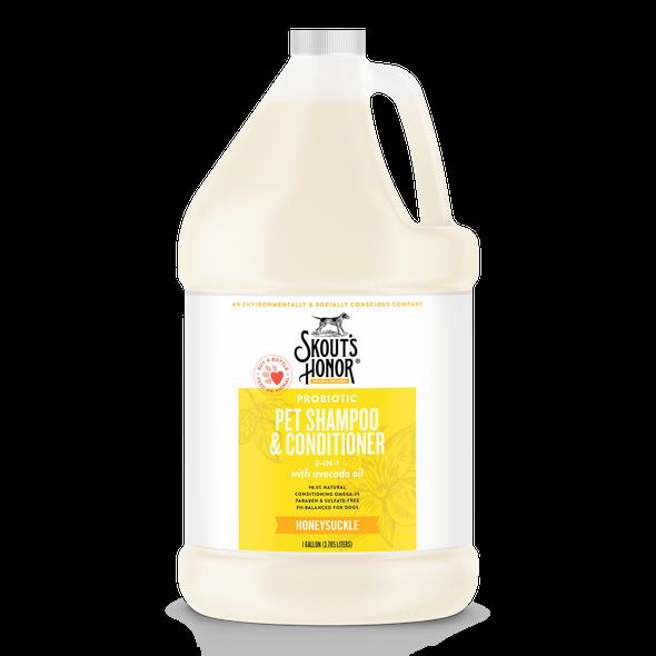 Skout's Honor Probiotic Shampoo & Conditioner Gallon Honeysuckle