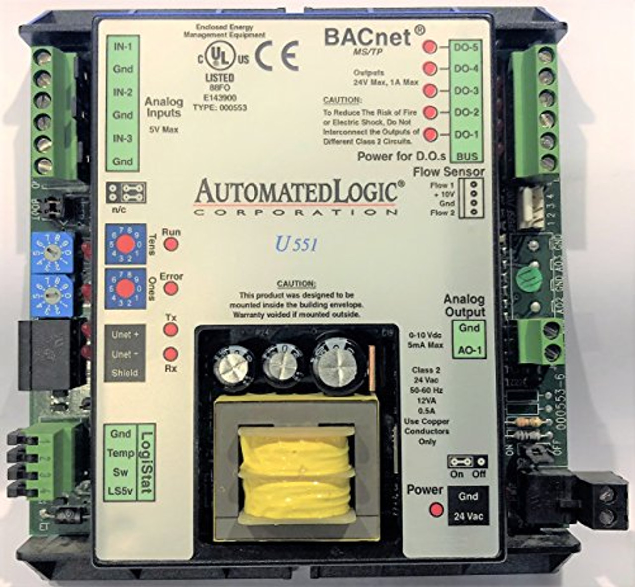 ALC Automated Logic U551 BACnet Heat Pump & Fan Coil Control, HVAC Control Mod