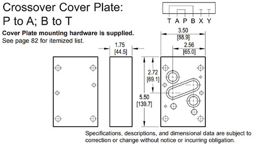 Daman DD07COPM D07 Ductile Iron Crossover Cover Plate Manifold for Hydraul Valve