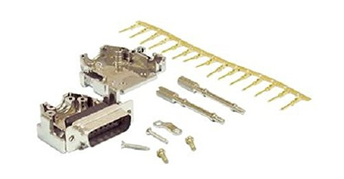 NKK Switches DE-M-KIT Standard D Sub Connector, 9 Contacts, Metal Body, Solder