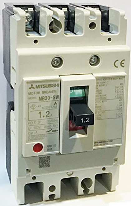 Mitsubishi Electric Corp MB30-SW 1.2A Motor Protection Circuit Breaker, MB Frame
