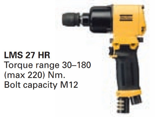 Atlas Copco LMS 27 HR-13 8434 1270 02 Heavy Duty Air Pneumatic Impact Wrench