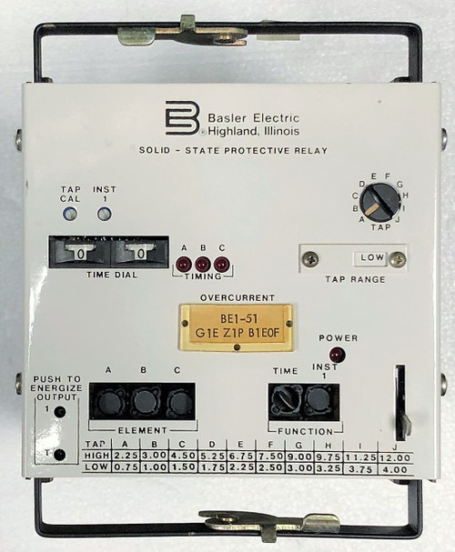 Basler BE1-51 G1E Z1P B1E0F Self-Powered SS Protective Time Overcurrent Relay