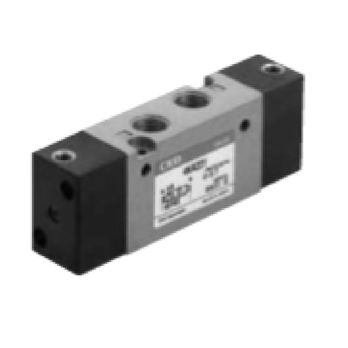 CKD Corporation 4KA351 4KA3 Series 5-Port Operated Pneumatic Valve, RC 1/4""