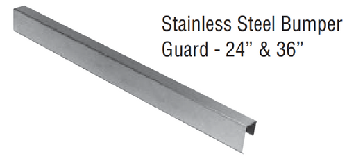 """Zurn PFJP260024BS Stainless Steel 24"""" Stainless Steel Bumper Guards, Pack of 2"""