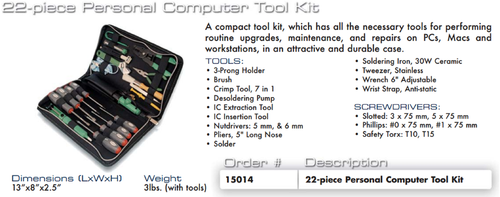 Aven 15.014 PC Personal Computer Tool Kit