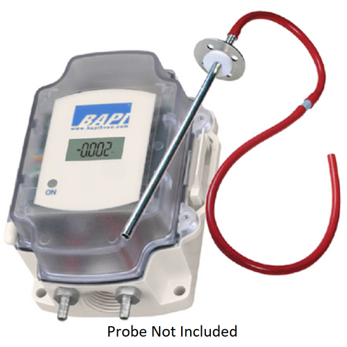 Bapi ZPS-20-SR75-BB-ST-D WITHOUT PROBE Differential Pressure Transmitter, 4-20mA