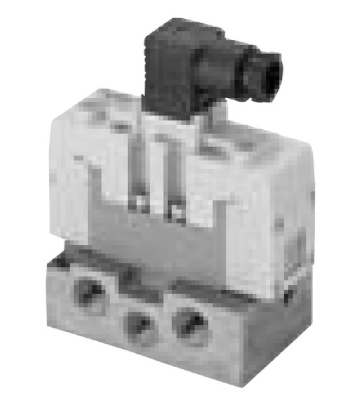 CKD Corp PV5G-8-FPG-D-3-N-A04 Air Pneumatic 5 Port Pilot Operated Valve, ISO