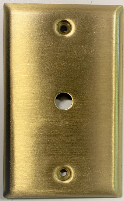 ChannelPlus 7311 Wallplate Gold Colored Wallplate for In-Wall Camera