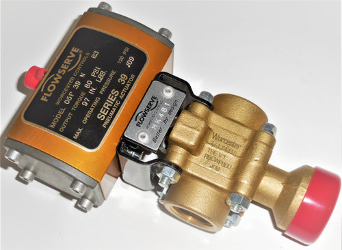 """Flowserve Worcester MK481 3/4"""" T4416 R8CWP800 Valve With 05F39NR3 Actuator"""