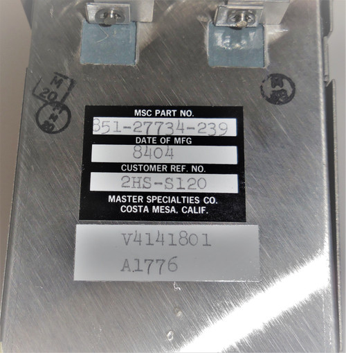 MSC Master Specialties Co 851-27734-239 2HS-S120 Button Switch Interface Box