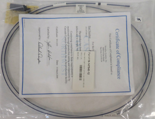 Novellus 19-147540-12 Fiber Optic LUL SNS Cable Cord Assembly