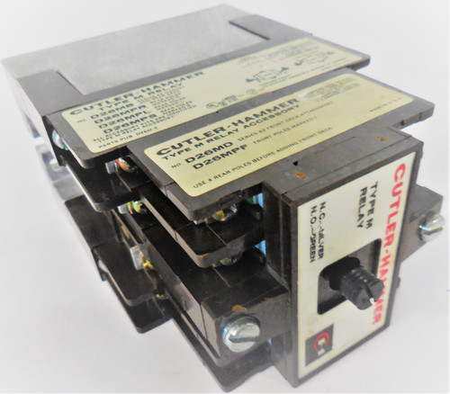 Cutler-Hammer Eaton Unknown Type M Relay, With 9-1989-1 Coil 120V 60Hz 110V 50Hz
