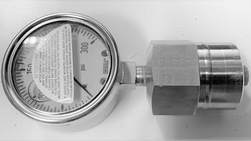 Wika 990.TA 0-300 PSI, 316SS Differential Pressure Gauge, Diaphragm Seal System