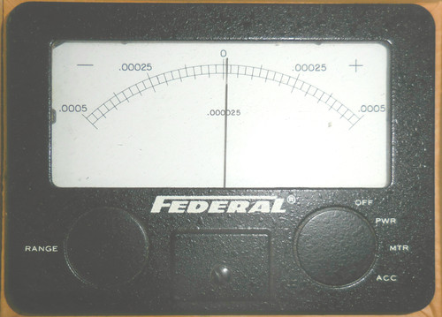 Federal Signal EME 1029 T .000025 Panel Meter, -0.0005 to 0 to +0.0005 Range